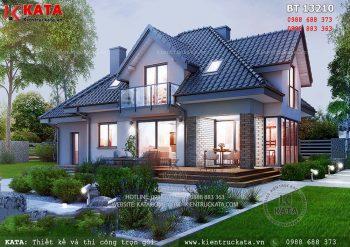 Biệt thự 2 tầng kiểu châu Âu tại Nghệ An – Mã số: BT 13210