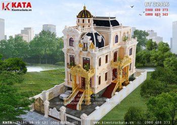 7 mẫu thiết kế biệt thự 3 tầng kiểu lâu đài đẳng cấp 2018