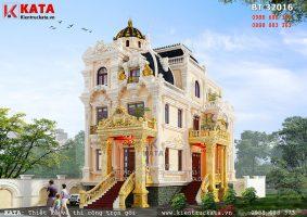 Thiết kế biệt thự kiểu lâu đài 3 tầng tại Thanh Hóa – Mã số: BT 32016