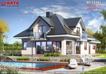 Thiết kế mẫu biệt thự nhà vườn 2 tầng tại Thanh Hóa – Mã số: BT 13201