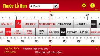 Thước lỗ ban âm phần hay thước lỗ ban 38,8cm và cách sử dụng