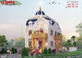 Biệt thự lâu đài 2 tầng cổ điển đẹp tại Hà Nội – Mã số: LD 31006