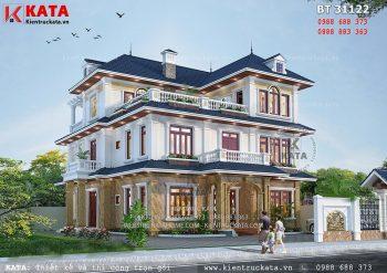 Biệt thự nhà vườn mái thái đẹp 3 tầng tại Thanh Hóa – Mã số: BT 31122