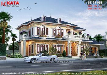 Biệt thự nhà vườn 2 tầng tân cổ điển tại Thanh Hóa – Mã số: BT 21168