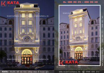 Mẫu khách sạn đẹp mặt tiền 10m tại Đà Nẵng – Mã số: KS 81042