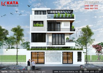 Biệt thự 3 tầng 1 tum hiện đại tại Nghệ An – Mã số: BT 36158