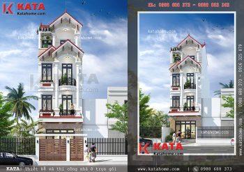 Nhà ống đẹp 4 tầng mái thái tại Nam Định – Mã số: NP 45035
