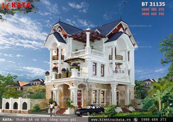 Mẫu nhà mái Thái 3 tầng tại Thái Bình – Mã số: BT 31135