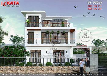 Nhà đẹp 3 tầng hiện đại tại Hưng Yên – Mã số: BT 36018