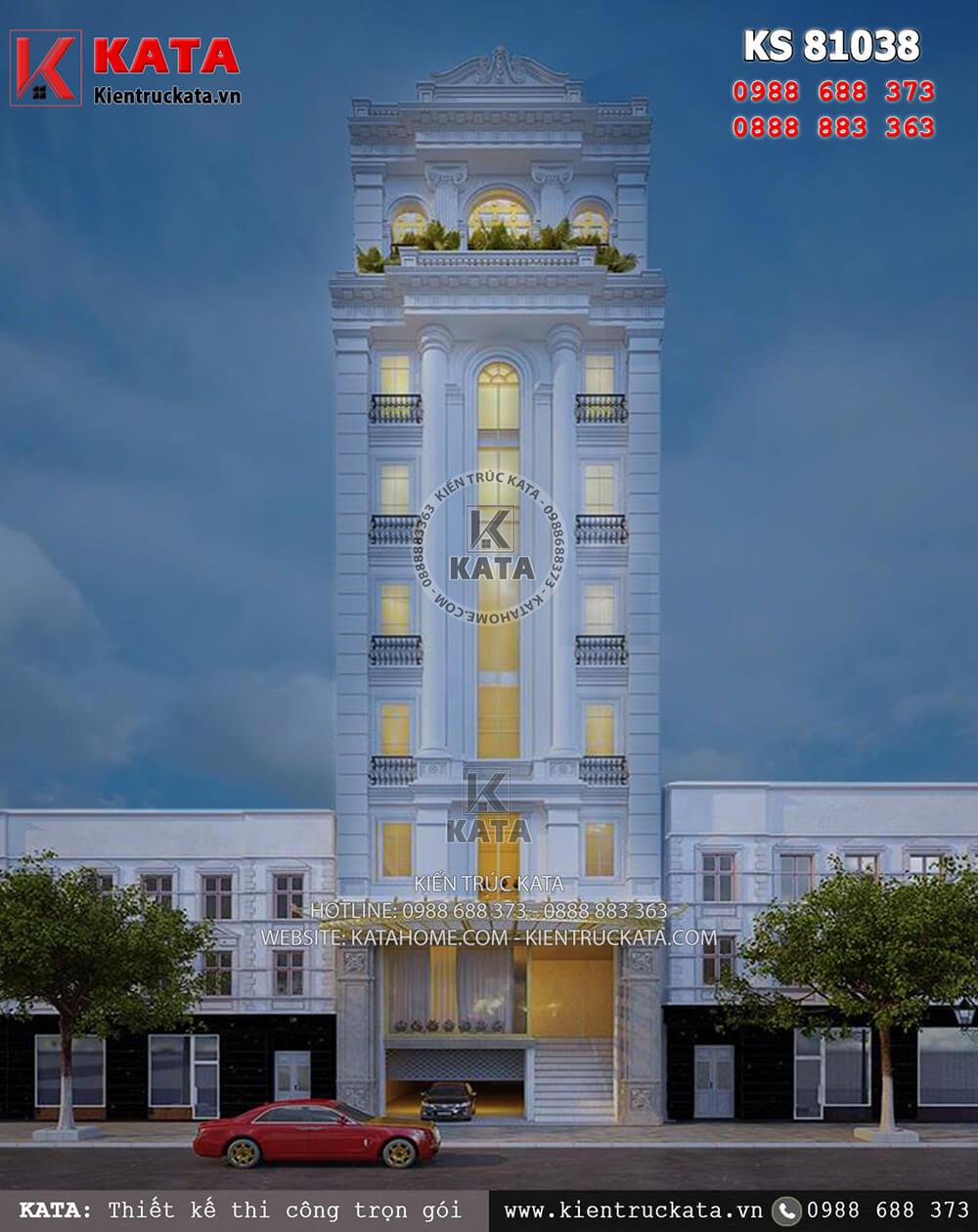 Mẫu khách sạn 3 sao đẹp mặt tiền 8m tại Quảng Ninh - Mã số: KS 81038