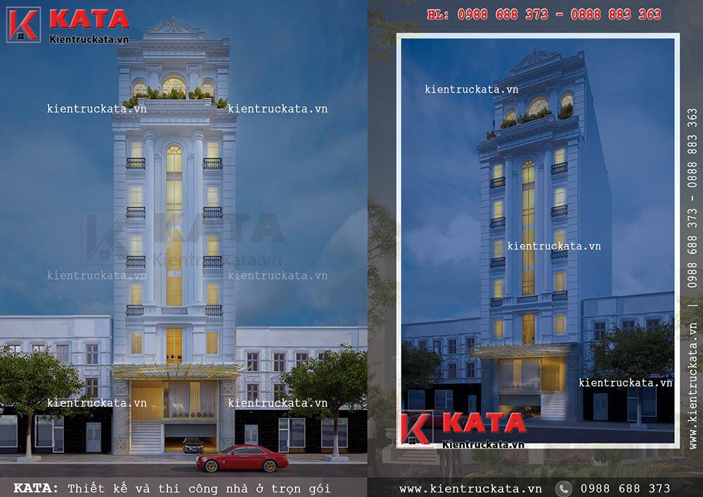 Mẫu khách sạn 3 sao đẹp mặt tiền 8m tại Quảng Ninh lộng lẫy ở mọi góc nhìn
