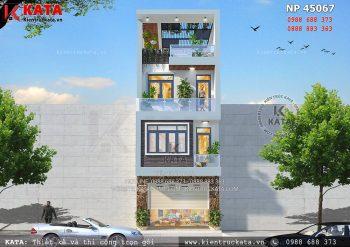Thiết kế nhà ống 4 tầng đẹp tại Bắc Kạn – Mã số: NP 45067