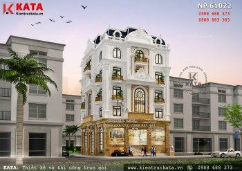 Mẫu nhà phố tân cổ điển 5 tầng 1 tum kết hợp kinh doanh tại Long Biên – Mã số: NP 61022