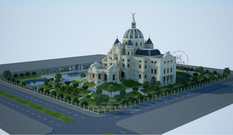 Một góc nhìn của tòa cung điện lâu đài sang trọng và đẳng cấp nhất tại Ninh Bình