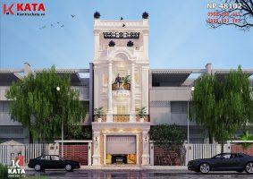 Mẫu nhà ống tân cổ điển 4 tầng tại Nam Định – Mã số: NP 48102