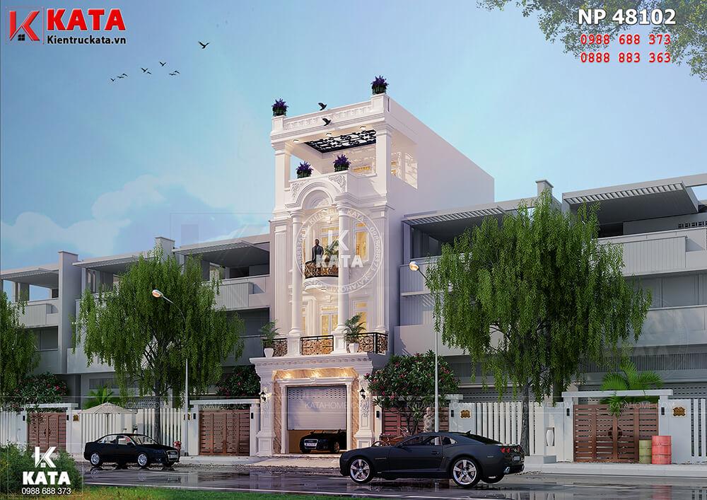 Một góc nhìn của mẫu nhà ống tân cổ điển 4 tầng tại Nam Định