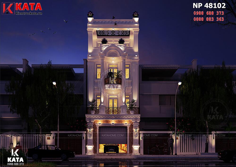 Mẫu nhà ống tân cổ điển 4 tầng tại Nam Định cuốn hút người nhìn ở mọi góc đặt mắt