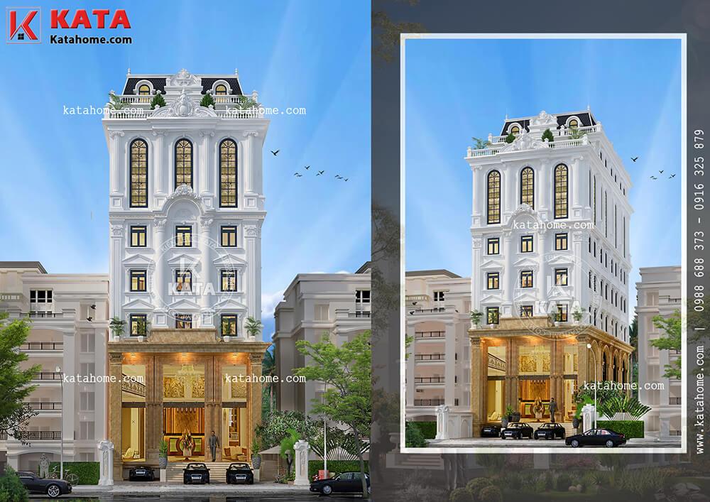 Mẫu khách sạn tân cổ điển đạt tiêu chuẩn khách sạn 3 sao tại Tam Đảo sang trọng và đẳng cấp ở mọi góc nhìn