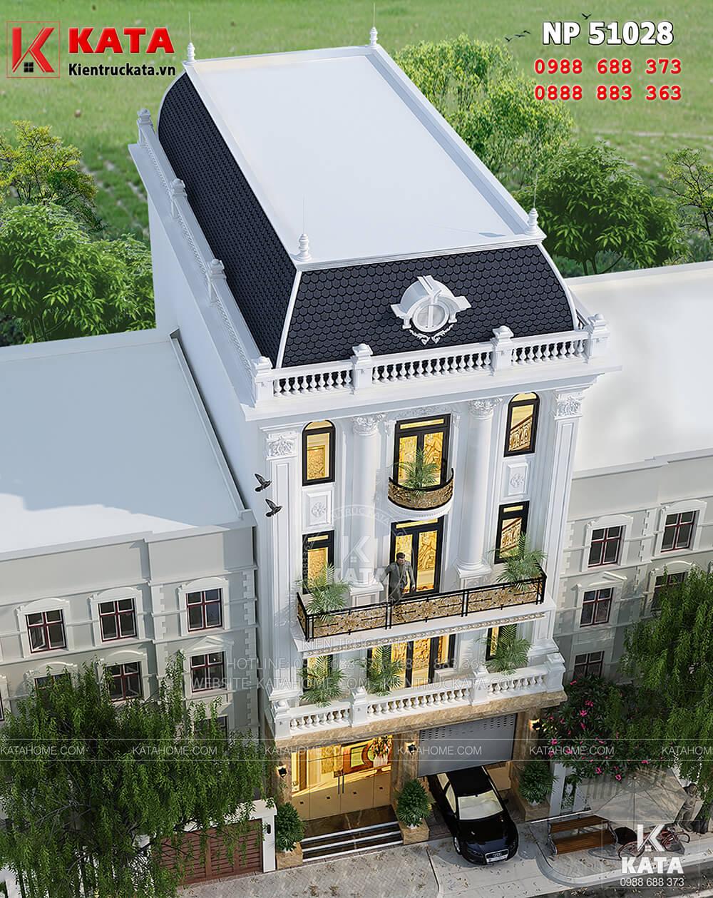 Mẫu thiết kế khách sạn nhà phố tại Hà Nội nhìn từ trên cao