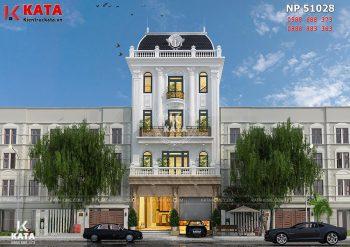 Thiết kế khách sạn nhà phố tân cổ điển tại Hà Nội – Mã số: NP 51028