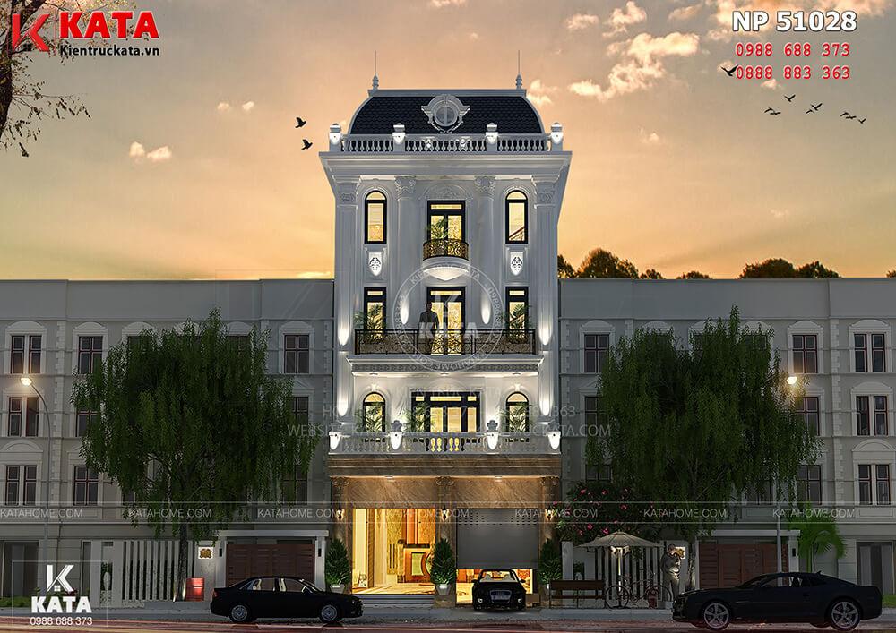 Mẫu thiết kế khách sạn nhà phố tại Hà Nội sang trọng và lộng lẫy về đêm