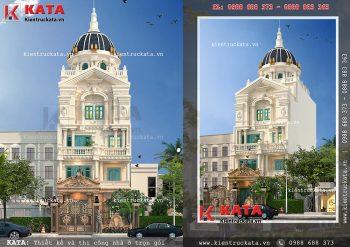 Biệt thự lâu đài phố 5 tầng kiến trúc tân cổ điển tại Hà Nội – Mã số: NP 50131