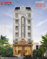 Thiết kế khách sạn 3 sao mặt tiền 12m tại Thanh Hóa – Mã số: KS 81036