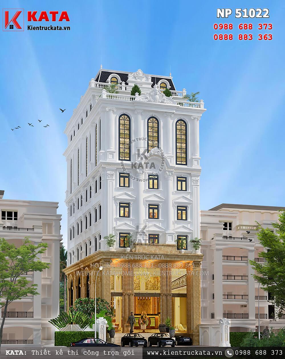 Mẫu khách sạn tân cổ điển đạt tiêu chuẩn khách sạn 3 sao tại Tam Đảo - Mã số: NP 50122