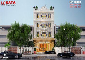 Mẫu thiết kế nhà nghỉ – khách sạn 4 tầng tại Vĩnh Phúc – Mã số: NP 48101