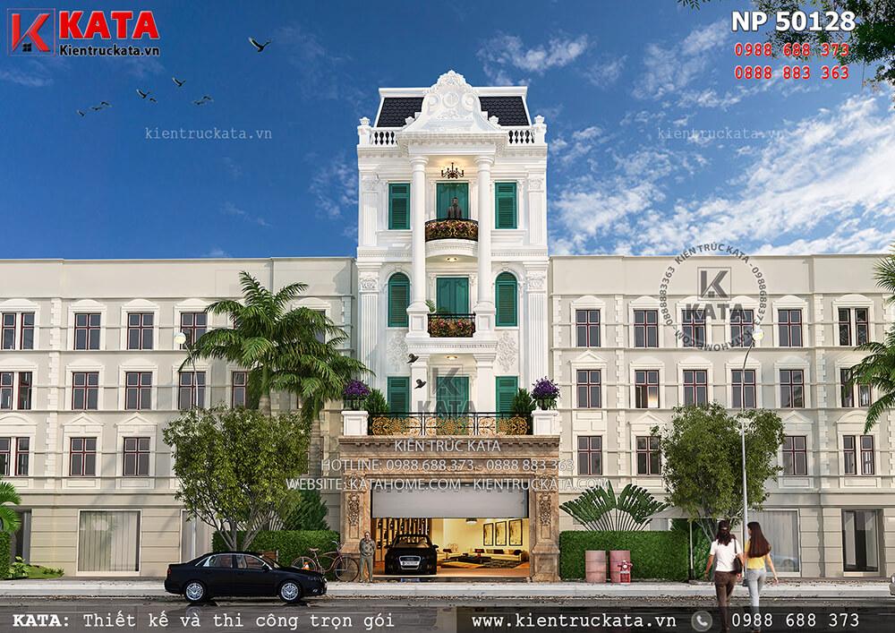 Mặt tiền nhà phố tân cổ điển 5 tầng tại Đà Lạt, Lâm Đồng - Mã số: NP 50128