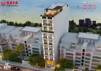 Thiết kế khách sạn mini 8 tầng tại Hà Nội – Mã số: NP 51035