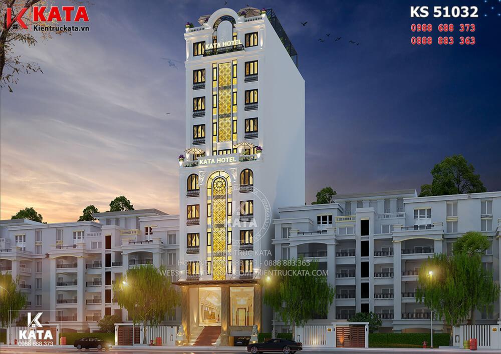 Một góc view của mẫu thiết kế khách sạn 3 sao mini tại Cao Bằng