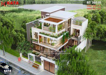 Biệt thự 3 tầng kiểu hiện đại tại Quảng Ninh – Mã số: BT 36020