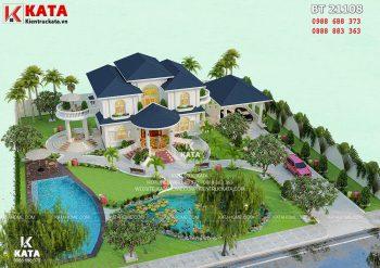 Mẫu thiết kế biệt thự nhà vườn 2 tầng tại Cao Bằng – Mã số: BT 21108
