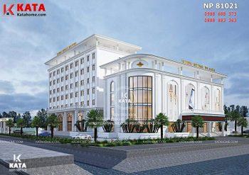 Thiết kế khách sạn đẹp 5 sao tại Thái Bình – Mã số: KS 81021