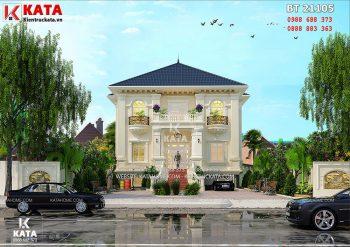 Thiết kế biệt thự 2 tầng kiểu Pháp tại Vĩnh Phúc – Mã số: BT 21105