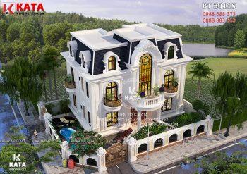 Nhà tân cổ điển 3 tầng đẹp 2 mặt tiền tại Sài Gòn – Mã số: BT 30115