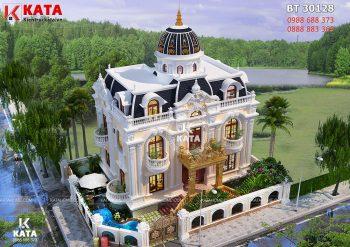 Biệt thự tân cổ điển 2 tầng 1 tum tại Sài Gòn – Mã số: BT 30128