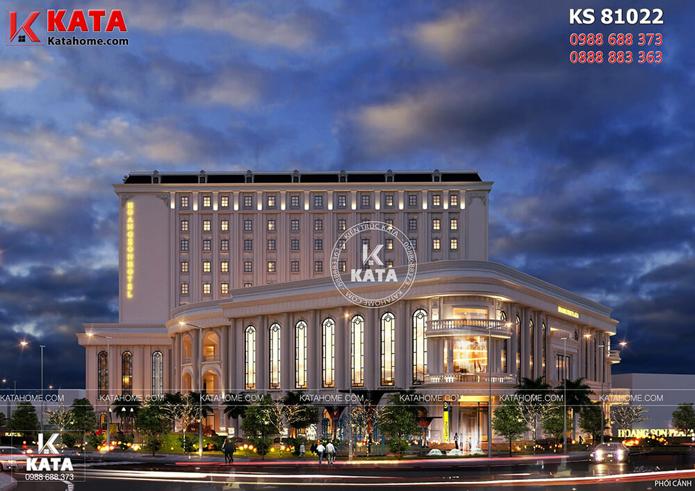 Một góc view của mẫu thiết kế khách sạn tân cổ điển 5sao đẹp tại Hà Nội