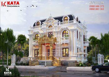 Nhà đẹp 3 tầng tân cổ điển kiểu Pháp tại Sài Gòn – Mã số: BT 30129