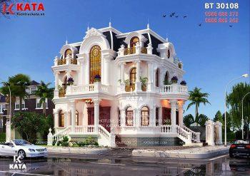 Biệt thự tân cổ điển 3 tầng kiểu Pháp tại Sài Gòn – Mã số: BT 30108