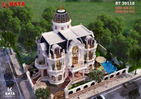 Mẫu nhà tân cổ điển 3 tầng kiểu Pháp tại Phú Mỹ Hưng – Mã số: BT 30118