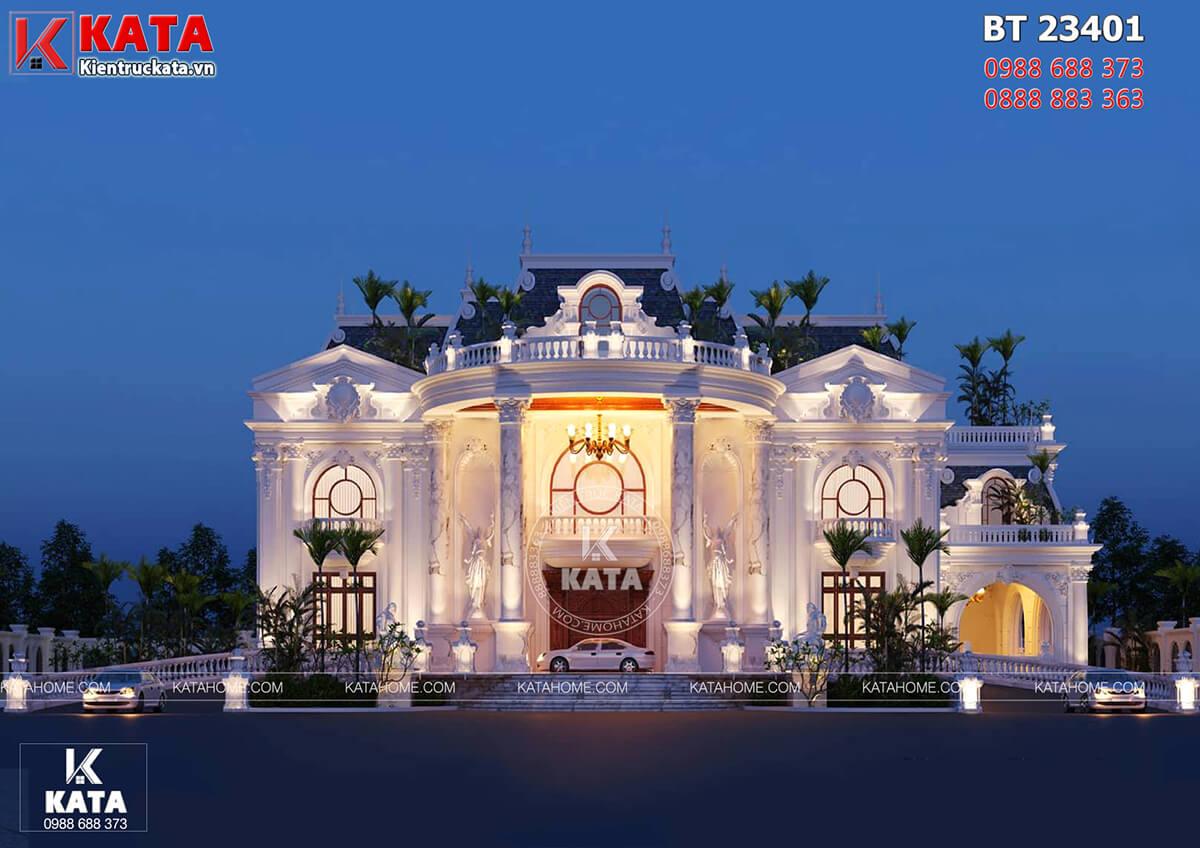 Mẫu dinh thự tân cổ điển đẹp 2 tầng tại Đà Nẵng - Mã số: BT 23401