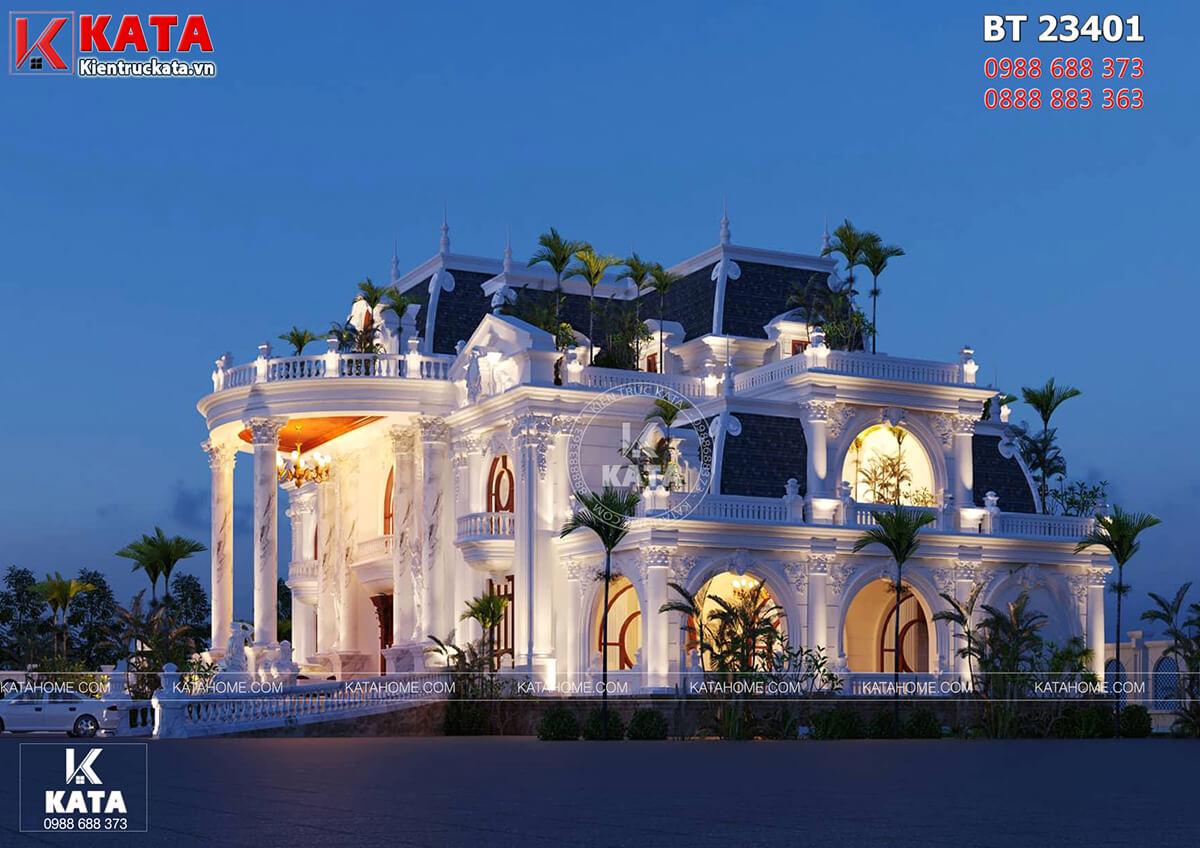 Một góc view của mẫu dinh thự tân cổ điển đẹp 2 tầng tại Đà Nẵng