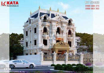 Mẫu biệt thự tân cổ điển đẹp 4 tầng tại Hải Dương – Mã số: BT 53403