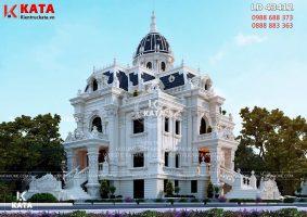 Thiết kế lâu đài dinh thự đẹp 4 tầng tại Hải Dương – Mã số: LD 43412