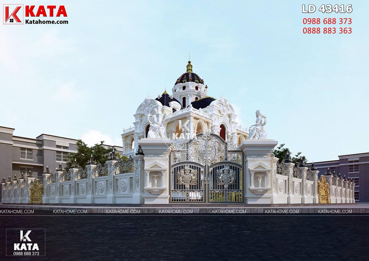 Vẻ đẹp ngoại thất của mẫu thiết kế lâu đài đẹp 300m2 tại Hải Dương