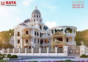 Thiết kế lâu đài đẹp 300m2 phong cách cổ điển tại Hải Dương – Mã số: LD 43416
