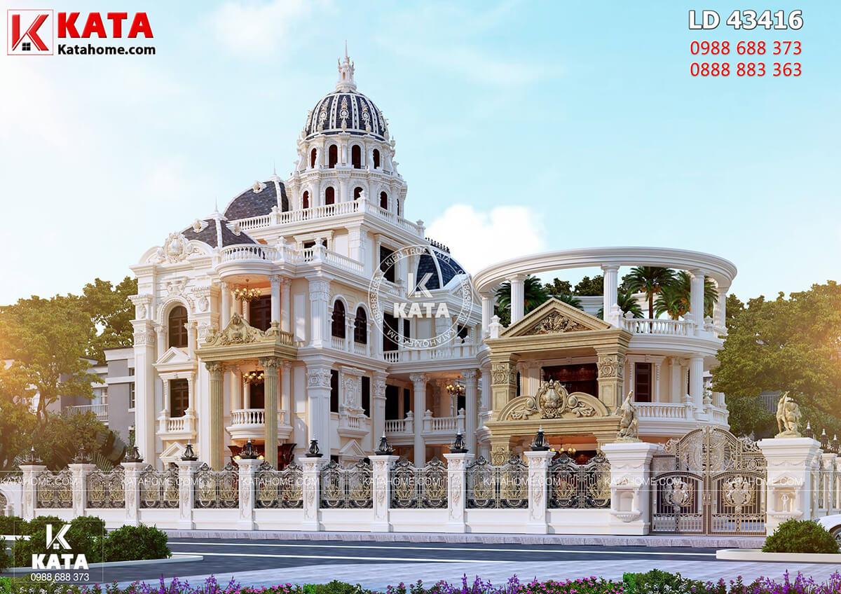Mẫu thiết kế lâu đài đẹp 300m2 phong cách cổ điển tại Hải Dương - Mã số: LD 43416