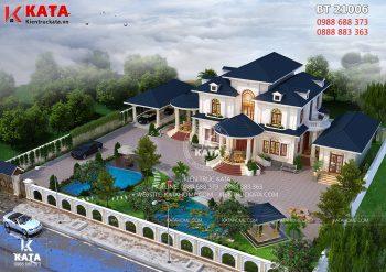 Bản vẽ biệt thự nhà vườn 2 tầng mái thái đẹp tại Đắk Lắk – Mã số: BT 21006